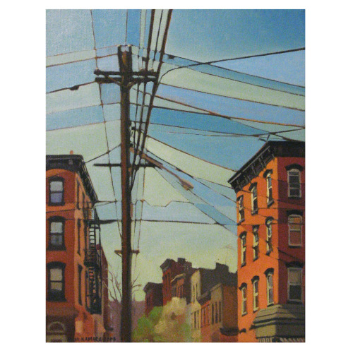 ericrickman:  Michael McNamara - Hoboken Sky oil on canvas