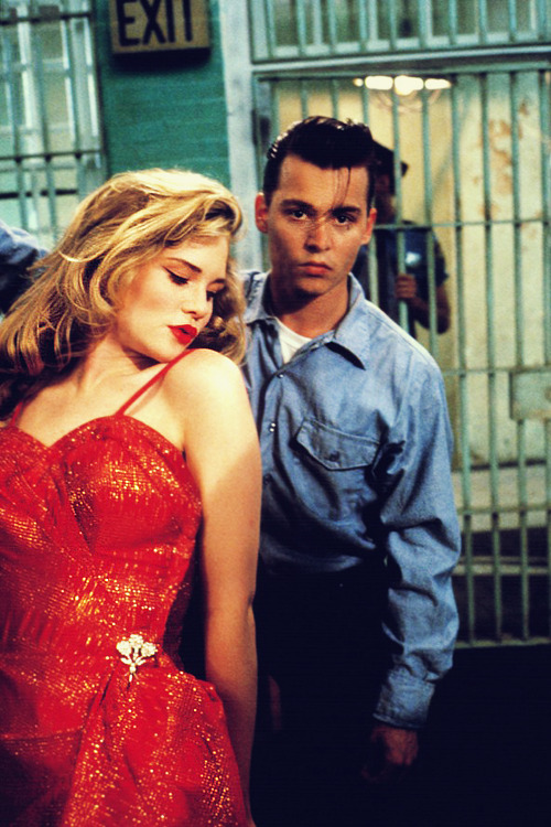 vintagegal:  Amy Locane and Johnny Depp in John Waters' Cry-Baby (1990)