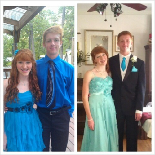 Look how cute we are @sarah_rdobson!! Homecoming to prom:) we are just perfect haha. #homecoming #prom #cute #redheads #simplyredhead #gingers #throwback