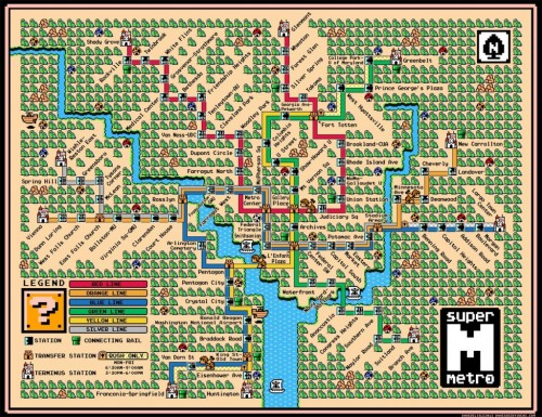 DC. Metro map Mario-fied. I wanna see a NY one!