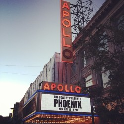 Phoenix concert at the world famous Apollo Theater.   (at Apollo Theater)