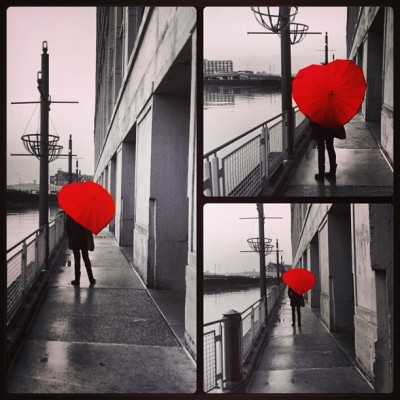 #heart #umbrella #heartumbrella #red #blackandwhite #rainy #rain #obaz #shop #shopping