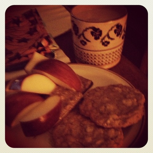 Breakfast in the dark. #cookies #home #breakfast