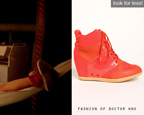 Look for Less! Clara Oswald - Asylum of the Daleks Lace Up Patent Wedge Sneakers, $16 (on sale!)
