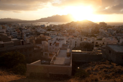 Mindelo, the capital of Sao Vicente in Cape Verde, at dusk.