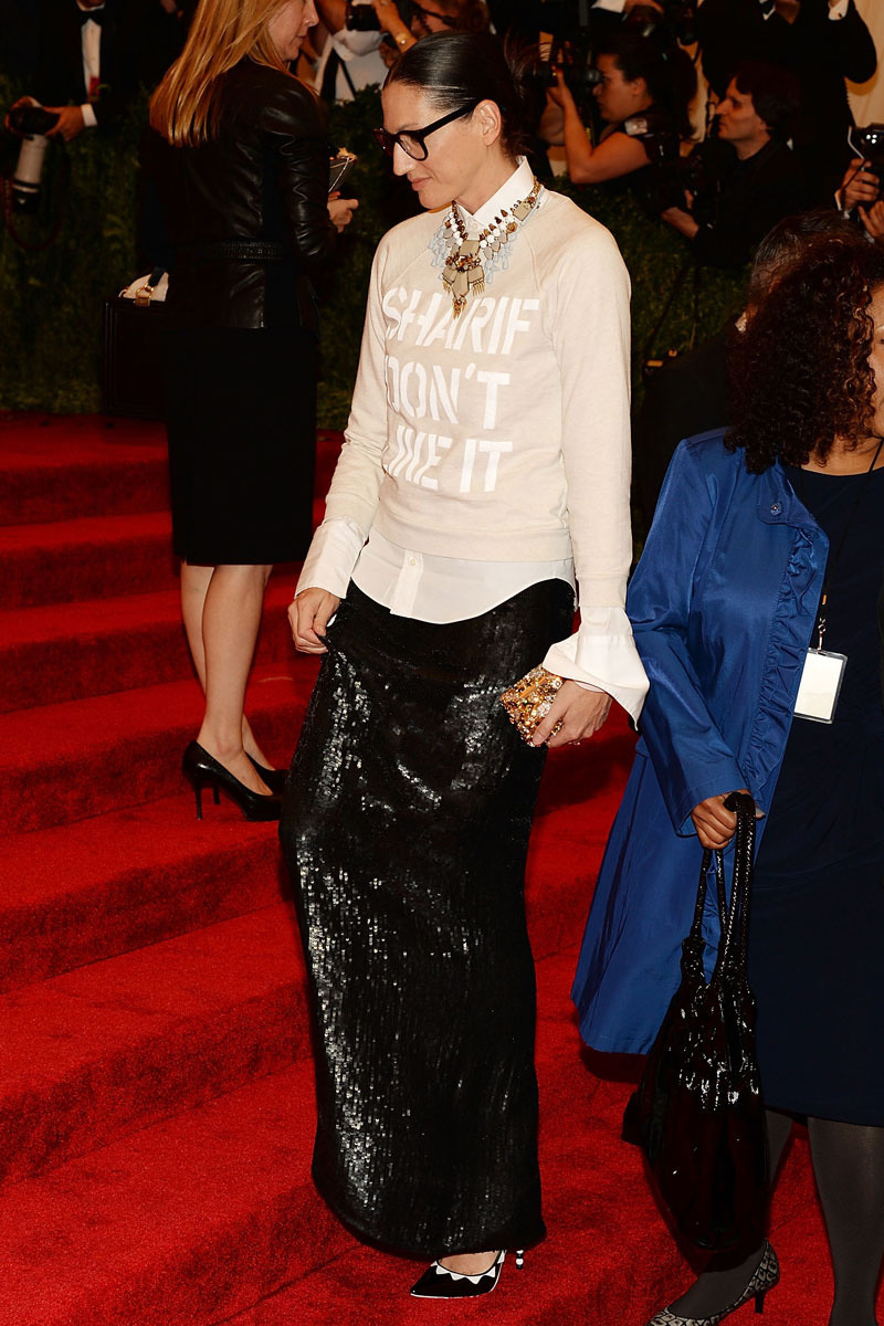 Jenna Lyons at the 2013 Met Gala on May 6th