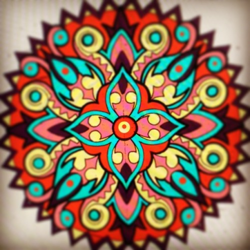 paintedrabbit:  Colour study….#tattoos #mandala
