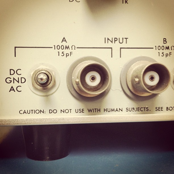 Good advice from a high voltage preamp. #dontkillyourself #useonotheranimalsisfine (at Computer Studies Building)