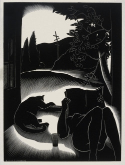 michaelfaudet:  Paul Landacre, Sultry Day - 1937 wood engraving