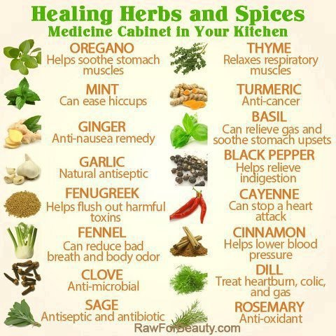 Nature itself is the best physician. Do you use healing herbs and spices as medicine?