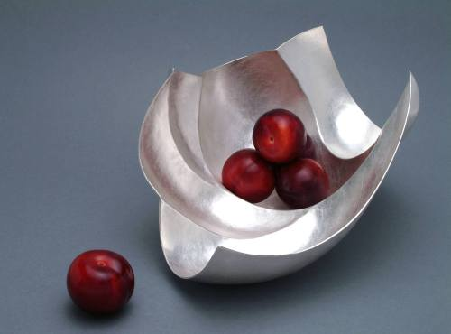 Abigail Brown, 4 Square Silver Fruit Bowl. Beautiful piece!