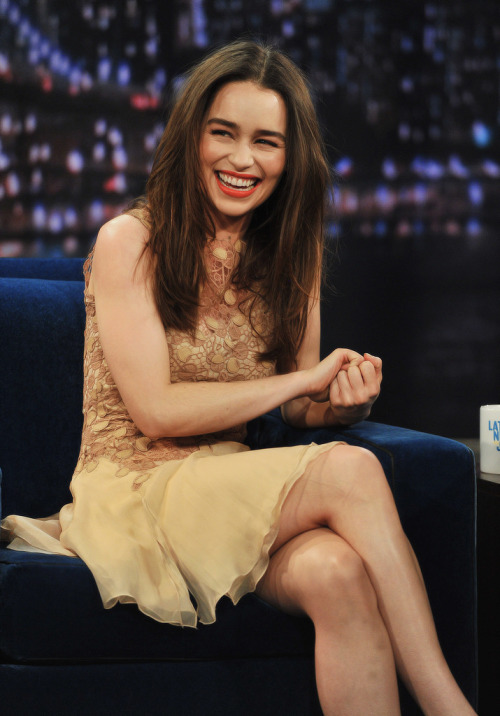 "Emilia Clarke - ""Late Night With Jimmy Fallon"" - 1.4.2013"