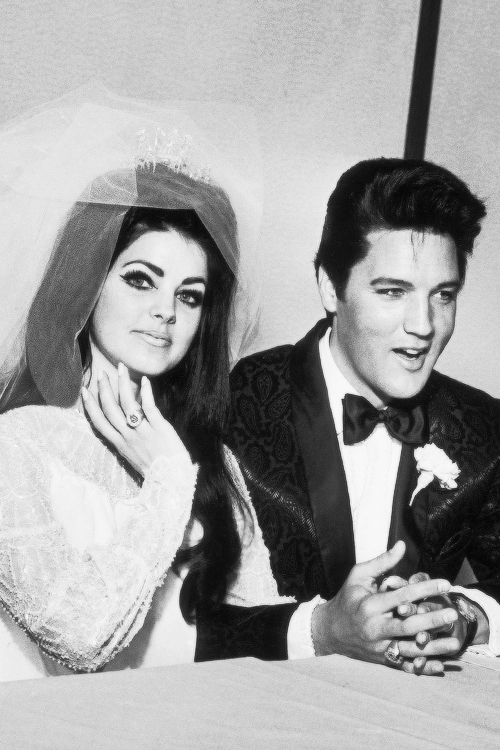vinceveretts:  46 years ago today ▸ May 1st, 1967. Elvis and Priscilla get married in Las Vegas.