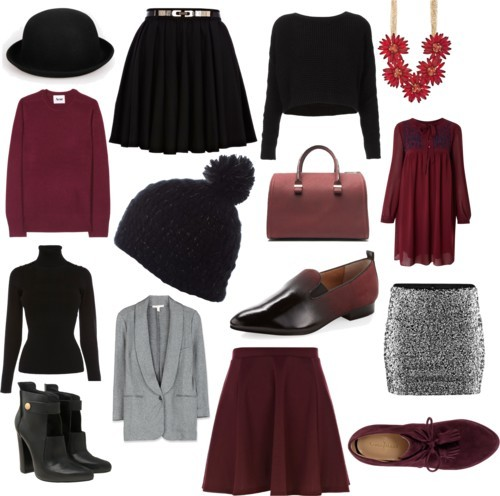 maroon and black by fishermarquis featuring wool hats