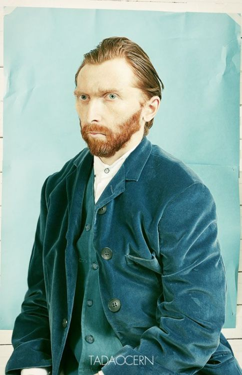 seanceinthesun:  Computer reconstruction of what Van Gogh actually looked like the year he died based on his second to last self portrait