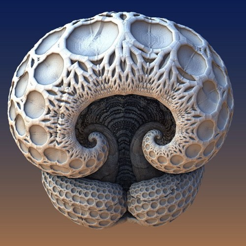 un:  (via lehuutai) #fractals #mandelbulb3d (at Saigon) I want to see some of these mandelbulbs printed with 3D Printers  Here's the thing:  Most Mandelbulb Fractal generators run in the graphics card via GPGPU code (E.g., CUDA, etc.).   It is usually not easy to pull complete 3D geometry for a Mandelbulb back out of the GPU again in order to render it as an STL file for 3D printing.