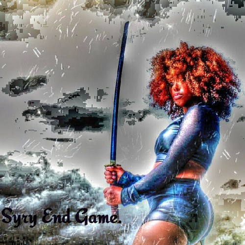fuckiitimfamous:  Syry king end game. Edits by Rye Cherry.                                  #ninja #model #storm #swords #Samurai #ninja #syryking