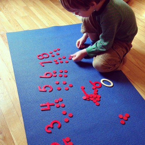 From spindle boxes straight to numbers and counters #challenge #montessori #math