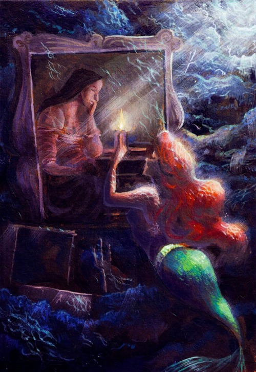 mermaidarieldisney:  I just love the paintings of the little mermaid.