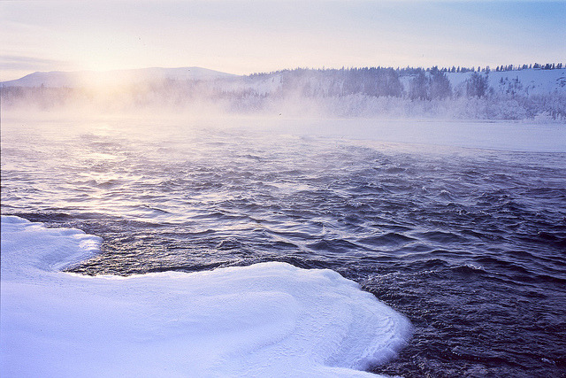 Ice fog on the Yukon River