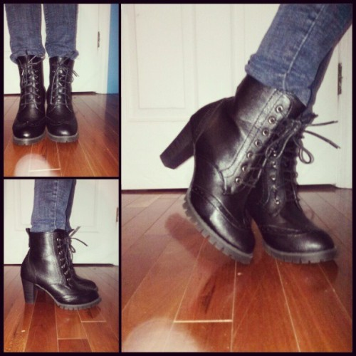 New shoes! #shoes #boots #booties #heels #fashion #style #blackboots