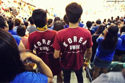 Korea University boys in our Yonsei section. GTFO >:O haha