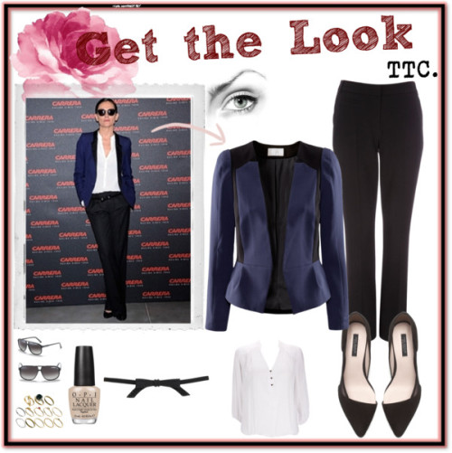 Get The Look. Laura Ponte by threetrendycorners featuring a waist beltWallis white top / H&M  jacket, $45 / Wallis black pants / Zara  shoes / ASOS engraved ring / Carrera  sunglasses / Topshop waist belt