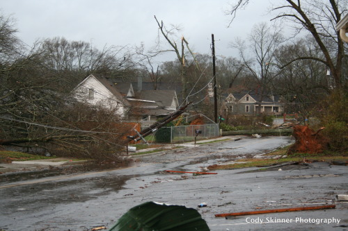 Trees and power lines down in Adairsville, GA