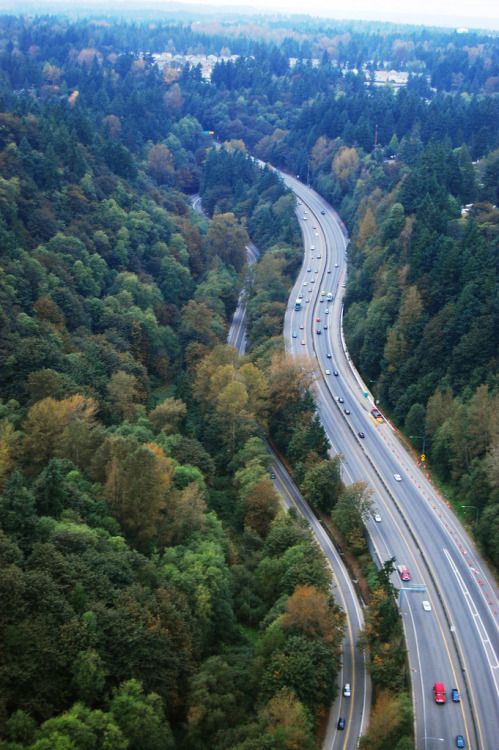 mystic-revelations:  Aerial view of SR 18 in Peasley Canyon By WSDOT