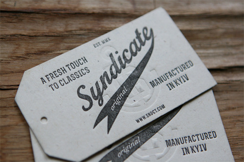 typographme:  Syndicate Original Letterpress