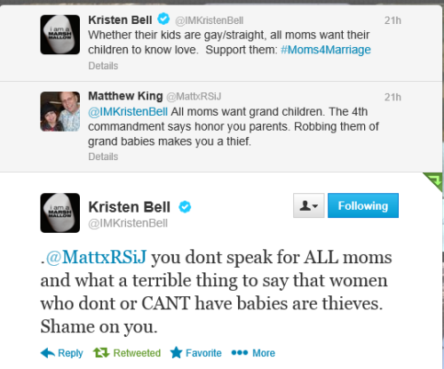 ramblingsofanangryirishman:  Kristen Bell wins all the Mothers Day awards  My hero.