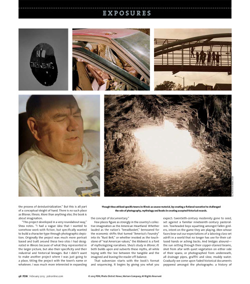 A feature on Blisner, Ill. in this month's PDN, written by Dzana Tsomondo. There are only a few books left!