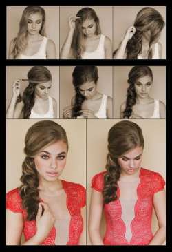 skin-beauty-fashion:  DIY - How to make a side scallop braid.