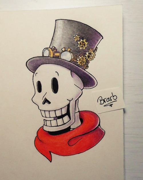 first time drawing in my new sketchbook actually first time drawing in any sketchbook my mom is awesome undertale papyrus steampunk my art traditional art