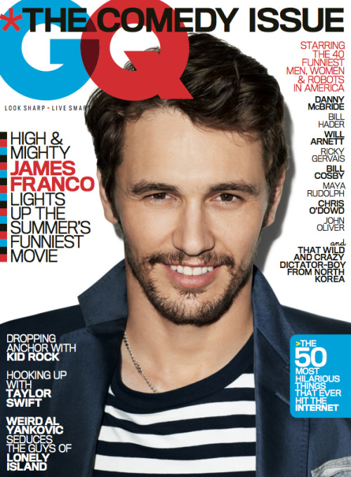 gq:  Our June 2013 Cover Star: James Franco James Franco lights up the summer's funniest movie, This is the End. See the photos and read the highlights from his GQ cover story here.