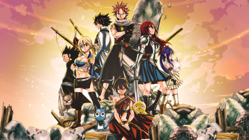Fairy tail. Great manga and anime.