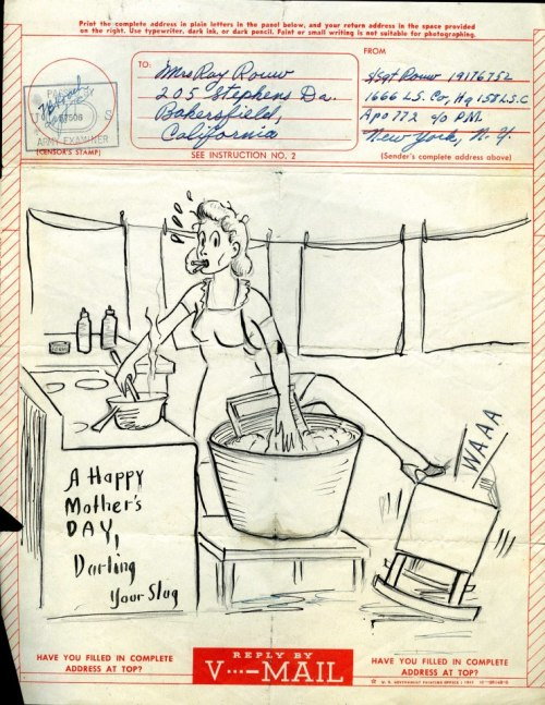 greatestgeneration:  Mother's Day V-Mail