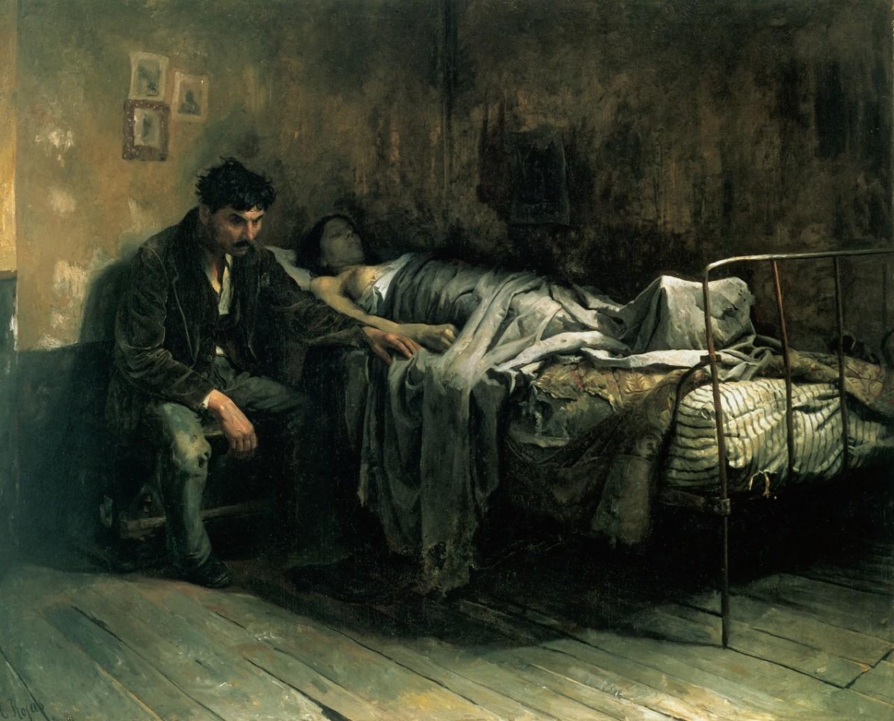 Cristóbal Rojas - La Miseria (1886)