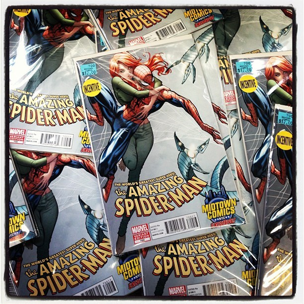 The Midtown Comics J. Scott Campbell variant for Amazing Spider-Man #700 is out now! (at Midtown Comics)