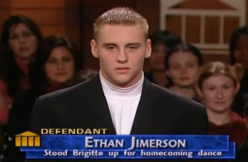 Ethan Jimerson: In Court For Standing Up Brigitte There's a punishment much worse than prison.  You can't sit at our lunch table any more.