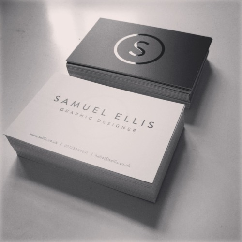 sam-ellis:  Self branding business card