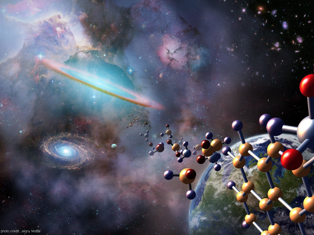 "sagansense:  Origin Of Life: New Study Spotlights Not Chemistry But How Living Things Store, Process Information Scientists trying to unravel the mystery of life's origins have been looking at it the wrong way, a new study argues. Instead of trying to recreate the chemical building blocks that gave rise to life 3.7 billion years ago, scientists should use key differences in the way that living creatures store and process information, suggests new research detailed today (Dec. 11) in the Journal of the Royal Society Interface. ""In trying to explain how life came to exist, people have been fixated on a problem of chemistry, that bringing life into being is like baking a cake, that we have a set of ingredients and instructions to follow,"" said study co-author Paul Davies, a theoretical physicist and astrobiologist at Arizona State University. ""That approach is failing to capture the essence of what life is about."" Living systems are uniquely characterized by two-way flows of information, both from the bottom up and the top down in terms of complexity, the scientists write in the article. For instance, bottom up would move from molecules to cells to whole creatures, while top down would flow the opposite way. The new perspective on life may reframe the way that scientists try to uncover the origin of life and hunt for strange new life forms on other planets. ""Right now, we're focusing on searching for life that's identical to us, with the same molecules,"" said Chris McKay, an astrobiologist at the NASA Ames Research Center who was not involved in the study. ""Their approach potentially lays down a framework that allows us to consider other classes of organic molecules that could be the basis of life."" Chemical approach For decades, scientists have tried to recreate the primordial events that gave rise to life on the planet. In the famous Miller-Urey experiments reported in 1953, scientists electrically charged a primordial soup of chemicals that mimicked the chemical makeup of the planet's early oceans and found that several simple amino acids, the most primitive building blocks of life, formed as a result. But since then, scientists aren't much further along in understanding how simple amino acids could have eventually morphed into simple, and then complex, living beings. Part of the problem is that there isn't really a good definition of what life is, said Sara Walker, study co-author and an astrobiologist at Arizona State University. ""Usually the way we identify life on Earth is always by having DNA present in the organism,"" Walker told LiveScience. ""We don't have a rigorous mathematical way of identifying it."" Using a chemical definition of life — for instance, requiring DNA — may limit the hunt for extraterrestrial life, and it also may wrongly include nonliving systems, for instance, a petri dish full of self-replicating DNA, she said. Information processing Walker's team created a simple mathematical model to capture the transition from a nonliving to a living-breathing being. According to the researchers, all living things have one property that inanimate objects don't: Information flows in two directions. For instance, when a person touches a hot stove, the molecules in his hand sense heat, transmit that information to the brain, and the brain then tells the molecules of the hand to move. Such two-way information flow governs the behavior of simple and complex life forms alike, from the tiniest bacteria to the giant humpback whale. By contrast, if you put a cookie on the stove, the heat may burn the cookie, but the treat won't do anything to respond. Another hallmark of living beings is that they have different physical locations for storing and reading information. For instance, the alphabet of letters in DNA carries the instructions for life, but another part of the cell, called the ribosome, must translate those instructions into actions inside the cell, Davies told LiveScience. (By this definition, computers, which store data on a hard drive and read it off using a central processing unit, would have the hallmarks of life, although that doesn't mean they are alive per se, Walker said.) The new model is still in its infancy and doesn't yet point to new molecules that could have spawned life on other planets. But it lays out the behavior needed for a system needs to be considered living, Walker said. ""This is a manifesto,"" said Davies. ""It's a call to arms and a way to say we've got to reorient and redefine the subject and look at it in a different way."""