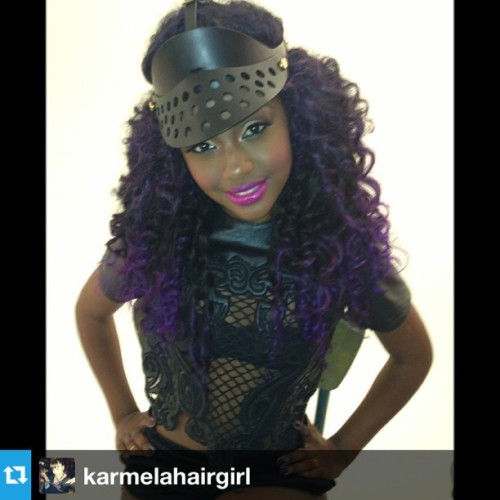 #Repost from @karmelahairgirl with @repostapp this girl is ah-maz-ing !! #popstar #major #gorgeous #purplehair #haircolor #gorgeous