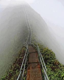 outstandingplaces:  Haiku Stairs, Hawaii, United States - This Stairway to Heaven is located on the island of Oahu, Hawaii. (outstandingplaces.com)