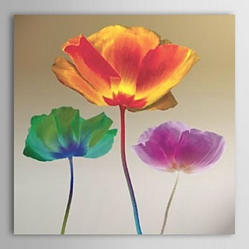 Hand-painted Oil Painting Poppy Chromatic by Robert Mertens with Stretched Frame