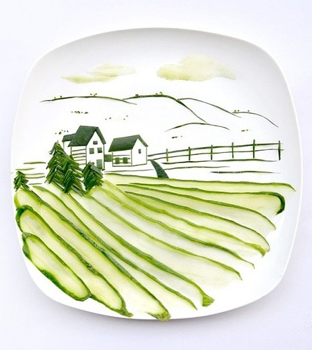 muchodeto:  Food Painting by Hong Yi