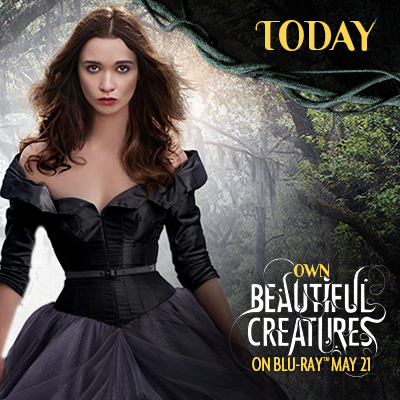 Beautiful Creatures is out on DVD and Bluray today!  (And B&N is having a 40% off bluray sale!)  Pick up yours today!