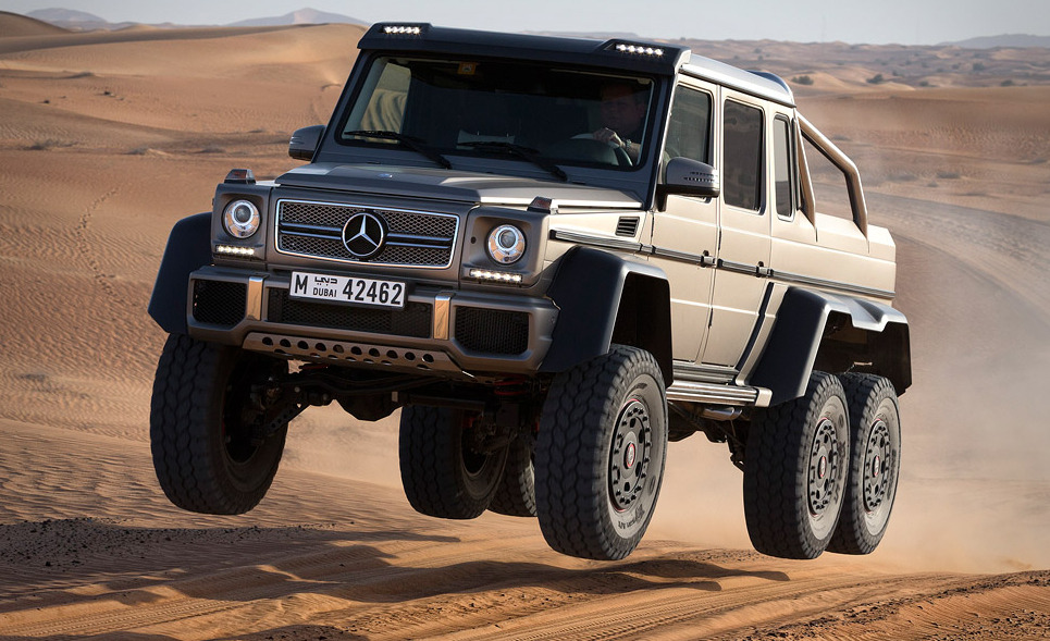 Mercedes-Benz G63 AMG 6×6.  Put it six-wheel drive.