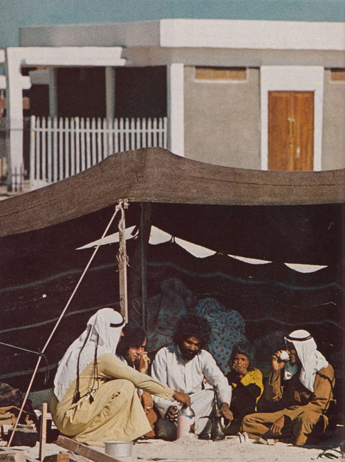 Bedouin family in Abu Dhabi National Geographic October 1975 Winfield Parks