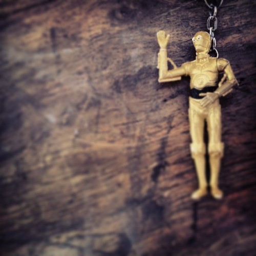 #C3-PO key chain Jess bought me. It can program moisture vaporators, you know. #starwars